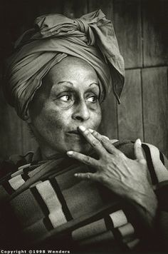 Omara Portuondo, Cuban singer and Tropicana dancer. You can hear her sing (duetting with the late Ibrahim Ferrer) on the album Buena Vista Social Club.