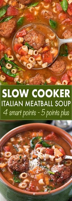 Slow Cooker Italian Meatball Soup #SuperSoups!
