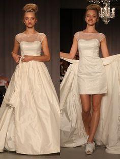 Empire Spaghetti Thin Strap Lace Wedding Dress With Pockets ...