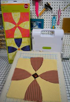 Ready to sew at Ray's Sew Crafty with the GO! Flowering Snowball die! #accuquilt