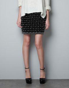 EMBROIDERED FANTASY SKIRT - Skirts - Woman - ZARA 60 euro