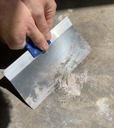 How to Epoxy Coat a Garage Floor - Plank and Pillow Epoxy Garage Floor Paint, Garage Floor Coatings, Epoxy Floor, Concrete Caulk, Concrete Floors, Sweep The Floor, Epoxy Coating, Garage Makeover, Plank Flooring