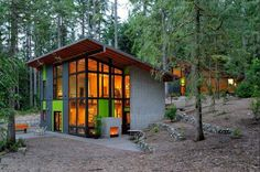 Colorful Schell Wheeler Cabin Made of Blown Down Trees | Inhabitat - Sustainable Design Innovation, Eco Architecture, Green Building