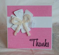Baby Thank You Cards 40 Sweet Pink Handmade by CardinalBoutique, $70.00