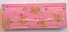 Rare Vintage Sanrio Tweedle Dee Bear Push Button Pop Out Pencil Case Organizer