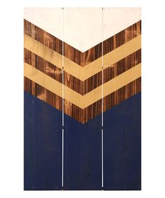 Loving this Navy & Brown Geometric Panel Wood Wall Art on #zulily! #zulilyfinds