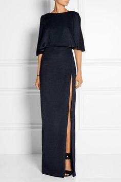 Cushnie et Ochs - Open-back stretch-satin jersey maxi dress Elegant Dresses, Beautiful Dresses, Formal Dresses, Dress Skirt, Dress Up, Dress To Impress, Fashion Dresses, 80s Fashion, Korean Fashion