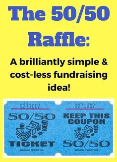 the 5050 raffle fundraiser a super simple and effective fundraising idea check