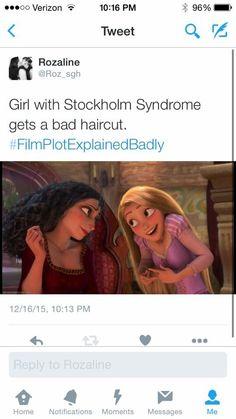 Explain a film plot badly - Tangled