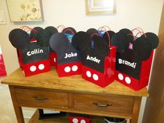 Mickey Mouse Party Favor bags.