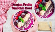 Dragon Fruit Smoothie Bowl is a refreshing additional to your breakfast recipe , loaded with different fresh fruits that will give the nutrients that your body needed.