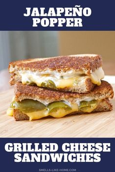 Jalapeño Popper Grilled Cheese Sandwiches: If you love jalapeño poppers, this grilled cheese is for YOU! Filled with spicy jalapeños, cream cheese, and the special ingredient yellow cheese, this is a KILLER sandwich! #jalapenopoppers #spicygrilledcheese #grilledcheese #gourmetgrilledcheese #jalapenogrilledcheese