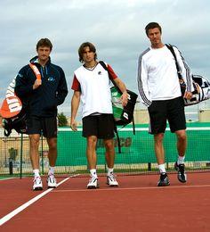 with Juan Carlos Ferrero and Marat Saffin