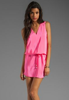 AMANDA UPRICHARD Brittany Dress in Hibiscus at Revolve Clothing - Free Shipping!