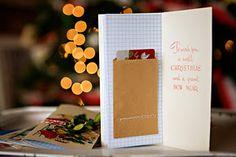 Christmas card notebook