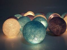 Lichtsnoeren - Lichte ketens, licht guirlande, ballon katoen - Een uniek product van Siamrose op DaWanda