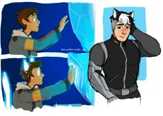Voltron AU where everything is the same except they get cat ears/tails when they become paladins.