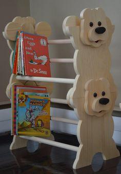 Stackable Bear Bookshelf kids furniture Kids Bookshelf Winnie the Pooh Kids Bookcase nursery Do It Yourself Furniture, Kids Bedroom Furniture, Nursery Book, Baby Shop, Teddy Bear Nursery, Bookshelves Kids, Toddler Bookcase, Childrens Room Decor, Cool Ideas
