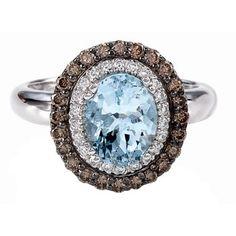 pretty pretty, aquamarine and chocolate diamonds, from LeVian