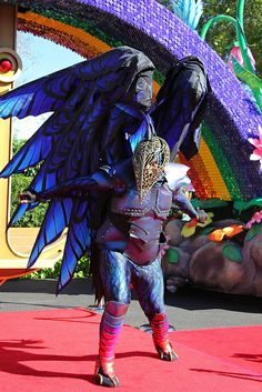 DISNEY'S NEW PARADE COSTUMES!!! Festival of Fantasy parade preview at Walt Disney World by insidethemagic, via Flickr (The Raven costume, from Sleeping beauty)