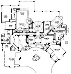 1504 House Plan -neat layout some ideas to pull from The Plan, How To Plan, Dream Home Design, My Dream Home, House Design, Dream Homes, Dream House Plans, House Floor Plans, Building Plans