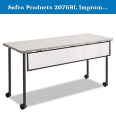 """Safco Products 2076BL Impromptu Mobile Training Table Modesty Panel for 60""""W Table (Table Top and Base sold separately), Black Frame. Modesty panels provide privacy for use with Impromptu Table Tops (sold separately). The panel is made from translucent polycarbonate surrounded by a sleek metal frame 54""""W x 1/2""""D x 9""""H. Easily add a contemporary accent to your tables in the training room, meeting spaces, multipurpose areas or learning spaces. For use with rectangle Impromptu 60"""" Table Top..."""