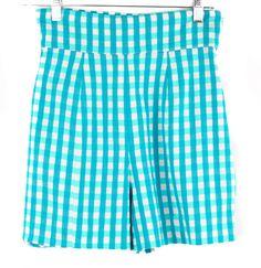 Gary Gatyas Blue Checkered Print Shorts Size S | ClosetDash #fashion #style #pants