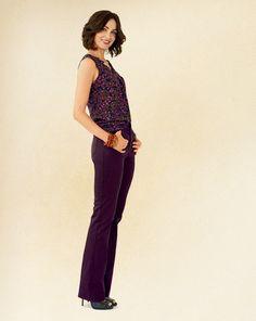 Soft spots shell and sateen denim bootcut jeans #ColdwaterCreek