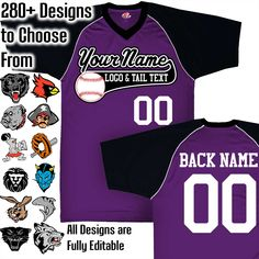 Excited to share the latest addition to my shop: Purple, Black and White Custom Baseball Jerse Toddler Football, Football Onesie, Baseball Jerseys, White C, Navy And White, Homecoming Games, Custom Football, Royal Red, Team Names