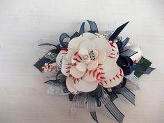 Baseball Rose Corsage by JustALittleLagniappe on Etsy