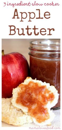 Three Ingredient Slow Cooker Crock Pot Apple Butter Recipe on Yummly. @yummly #recipe