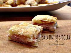I salatini di sfoglia sono un fingerfood perfetto per ogni occasione: si preparano in cinque minuti e spariscono in pochi secondi!!!