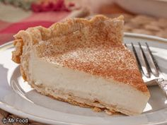 Amish Bakery Custard Pie  -- Made with 1/2 & 1/2, butter and cornstarch
