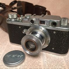 FED 1 Rangefinder Soviet Russian Camera with Leather Case 1950s