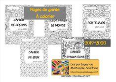 Pages de garde à colorier 2019-2020 - Les partages de Maîtresse Sandrine Cycle 3, Classroom Management, Teaching, Education, School, Voici, Claire Pettibone, Cityscapes, Diy Crafts