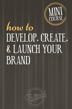 New Branding Course | This mini course will walk your through how to develop, create and launch you badass brand, including the 5 phases of branding, the ingredients you'll need for each phase , the roadblocks that will pop up and exactly how to avoid them. via @brandingbadass: