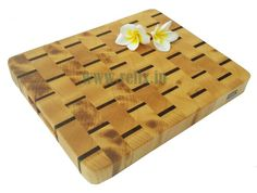 Relix end grain sycamore and sapele cutting board $45