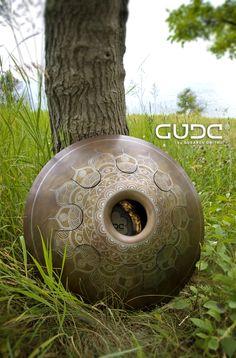"""GUDA drum Standart """"Frozen Flower"""" with rope decoration   GUDA DRUM – Official store by Gubarev Dmitrii"""
