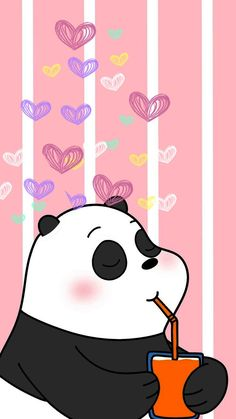 we bare bear♡ Cute Panda Wallpaper, Bear Wallpaper, Emoji Wallpaper, Kawaii Wallpaper, Cute Wallpaper Backgrounds, Animal Wallpaper, Panda Wallpaper Iphone, We Bare Bears Wallpapers, Panda Wallpapers