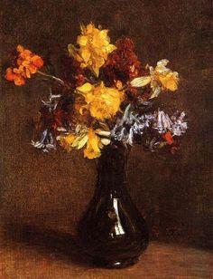 Vase of Flowers - Henri Fantin-Latour