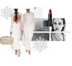 Winter whites are in trend and we're loving this Backless Anita Dongre gown on strandofsilk.com ! #anitadongre #white #gown #winter #elegant #chic #lace