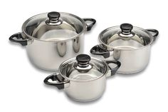 Hrnce sada 6-dílná Vision Prima Cookware Set, Stainless Steel, Glass, Image, Drinkware, Corning Glass, Yuri, Tumbler, Mirrors