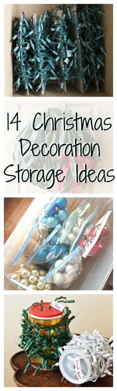 Make the post Christmas teardown (and next year's routine) less painful with these clever ideas for Christmas decoration and ornament storage.