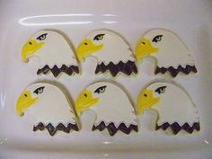 I sooooo need to make these for my boys! Go Decatur Eagles