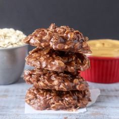 These Coconut Oil No-Bake Cookies are a delicious twist on the original. Made completely dairy and gluten free, but just as delicious!