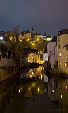 Luxembourg reflection in Alzette river