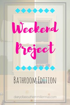 """When I catch that spring cleaning bug, I catch it bad. Like """"Let's repaint our entire bathroom! So this past weekend, that's exactly what we did! While I still have a few things to finish up, here's how our little home improvement project went! Weekend Projects, Home Projects, Home Repair, Little Houses, Home Improvement Projects, Girl Room, Spring Cleaning, Pretty In Pink, Color Schemes"""