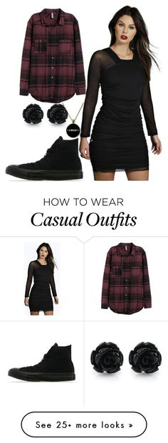 """Casual"" by chap15906248 on Polyvore featuring Boohoo, H&M and Converse"