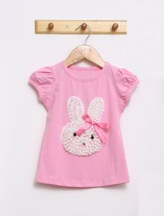 f9dfc3c65d Cute Tshirt with bunny for girl Sizes 2T 3T 4T 5 by MoanasKids