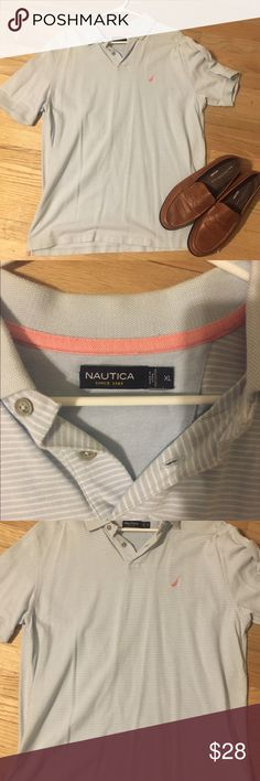 Nautica shirt sleeve collared striped button short EUC so my bf buys shirts only wears 1x! All are available excellent condition almost new with tags NWT! 👀 At the pics and ask questions if you have them! I copy and paste-listings are similar! will do great bundles! Men's polos have button up down dress or casual short half sleeve shirt w collar . All accessories listed! Some striped tiny or Large w many colors w red green blue orange yellow purple pink brown. Tags # Tommy Hilfiger # polo…